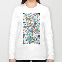 cities Long Sleeve T-shirts featuring Sister Cities by theartistmakena