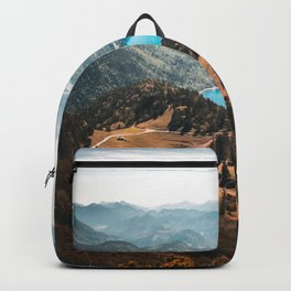 Mountains and lake Backpack