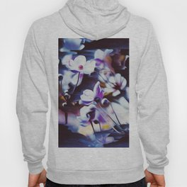 flowers, glitch, oil, nature Hoody