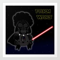 darth Art Prints featuring Darth by Afro Pig