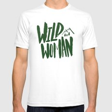 Wild Woman x Green SMALL White Mens Fitted Tee