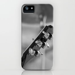 guitar black and white iPhone Case