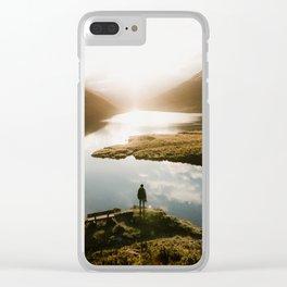 Sunrise in Switzerland Clear iPhone Case
