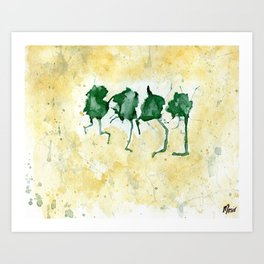 Dancing Frogs Art Print