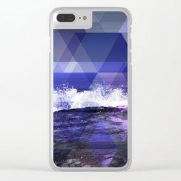 Triangulate the Horizon Clear iPhone Case