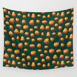 Illustrated Pumpkin Pattern Wall Tapestry