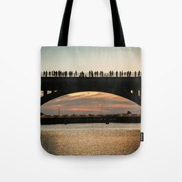 People at sunset Tote Bag