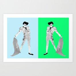 Double Pompadour Art Print