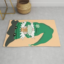 Green St-Patrick's Day Gnome Rug