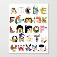 Child of the 70s Alphabet Canvas Print