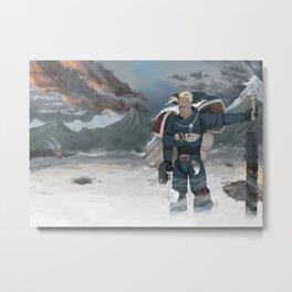 Warhammer 40,000 Space Wolf Marine Metal Print