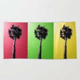 Palm Trees Rasta Beach Towel