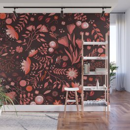 Coral flowers Wall Mural