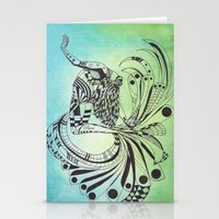 pisces Stationery Cards featuring Pisces by NoMoreWinters