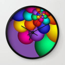 turn around with colors -57- Wall Clock