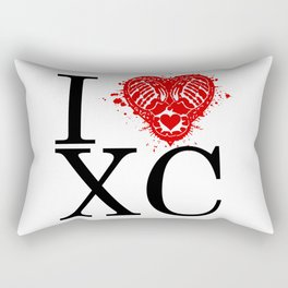 I Heart Cross Country Rectangular Pillow