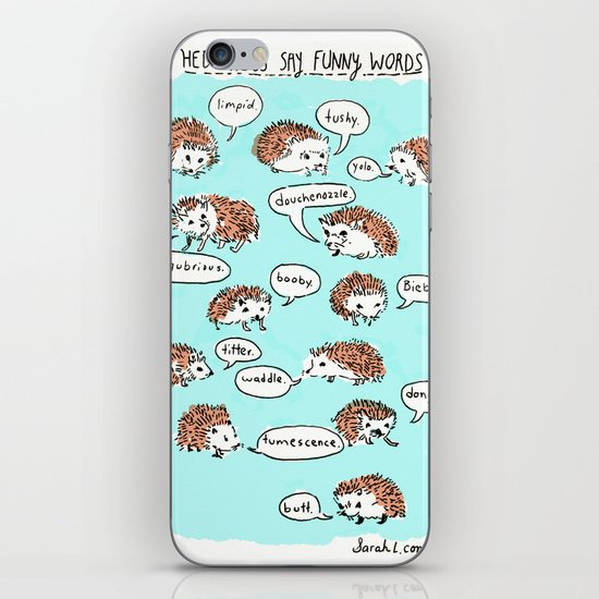 Hedgehogs Say Funny Things iPhone & iPod Skin