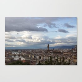 Arno and Ponte Vecchio in Florence Italy Canvas Print