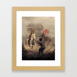 1920 - final charge Framed Art Print