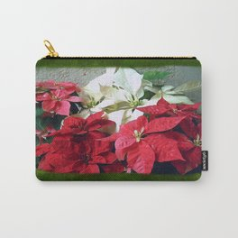 Mixed color Poinsettias 3 Blank P1F0 Carry-All Pouch