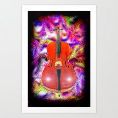 Psychedelic Cello Art Print