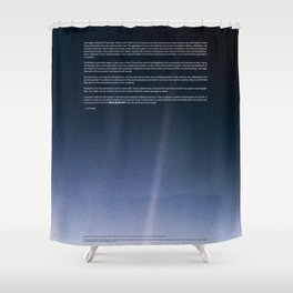 Pale Blue Dot — Voyager 1 (2020 rev.), quote Shower Curtain