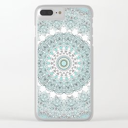Mandala - Boho - Sacred Geometry - Pastels - Clear iPhone Case