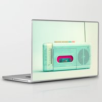 radio Laptop & iPad Skins featuring Radio Days  by Caroline Mint