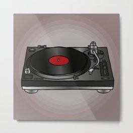 Vinyl record player Metal Print