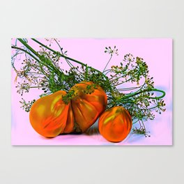 Still life of tomatoes and dill Canvas Print