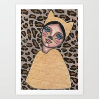 Lizzie the Cat Girl Art Print