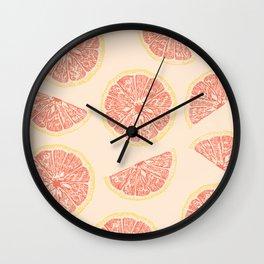 grapefruit and sunny days Wall Clock