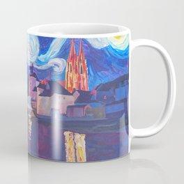 Starry Night in Regensburg  Van Gogh Inspirations on River Danube Coffee Mug