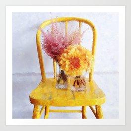 Yellow Chair Art Print