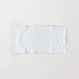 Minimal Minimalistic Light Cool Gray Mandala Hand & Bath Towel