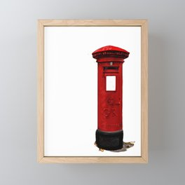 Red, Royal Mail, BRITISH Post Box. Framed Mini Art Print