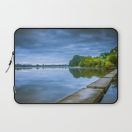 Stepping Stones Over Still Lake Laptop Sleeve