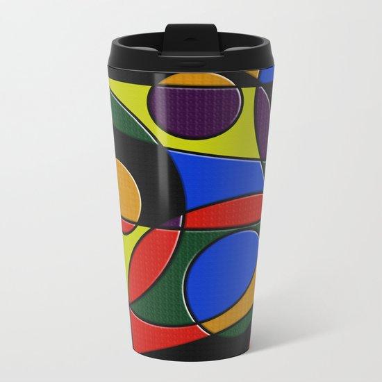 Abstract #223 Metal Travel Mug