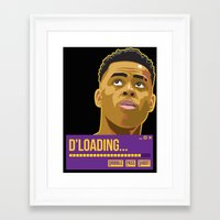 lakers Framed Art Prints featuring d'loading by dmrz
