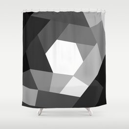 Black and white KOLOR Shower Curtain