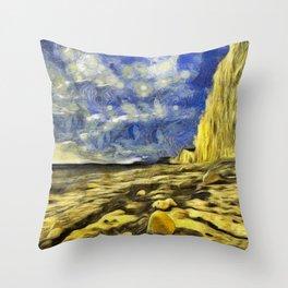 Birling Gap And Seven Sisters Van Gogh Throw Pillow