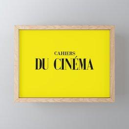 cahiers du cinema Framed Mini Art Print