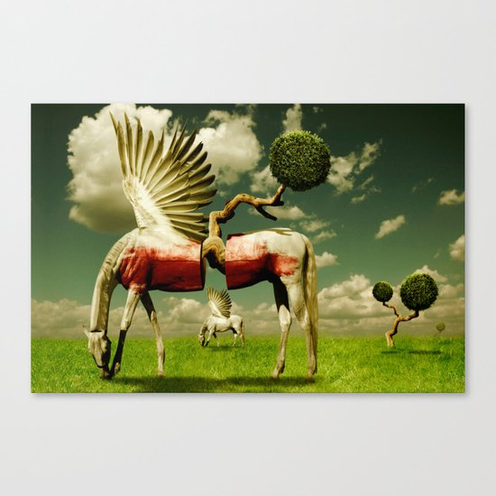 Pegasus Divided Canvas Print