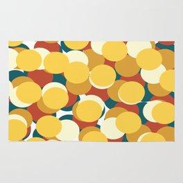 COLORED CIRCLES Abstract Art Rug