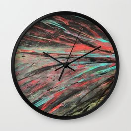 Blue and Teal Abstract Painting Wall Clock