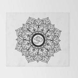 Om Hindu sacred sound symbol Mandala Throw Blanket