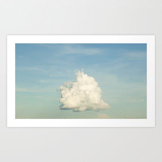 Pastel Cloud Brazil Art Print