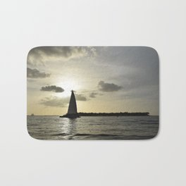 Sailboat Sunset Bath Mat
