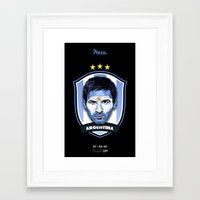 messi Framed Art Prints featuring Messi by Rudi Gundersen