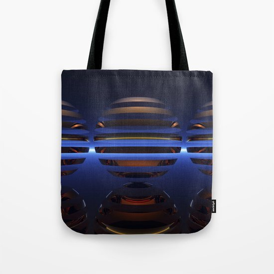 Split Spheres (Night) Tote Bag